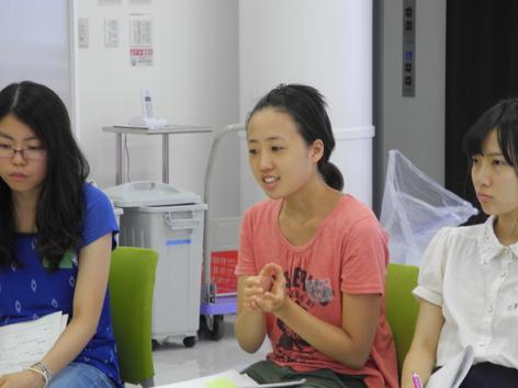学生が所属している食育サークルの取組説明