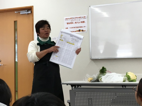 野菜の管理や安全性を説明